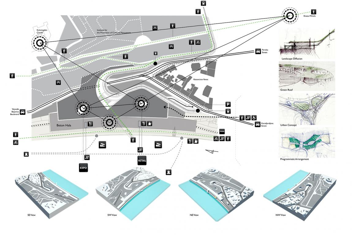 Site Plan and Axonometric Drawings